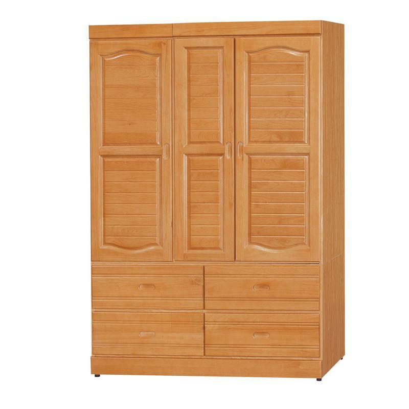 【KB202-2】 赤陽色4×6尺衣櫥