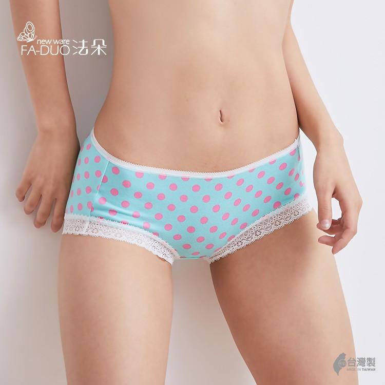 MIT 窄版蕾絲綠點點內褲 超彈力蕾絲內褲 舒服 好穿 柔嫩 吸汗 棉質內褲 M-XL #21002