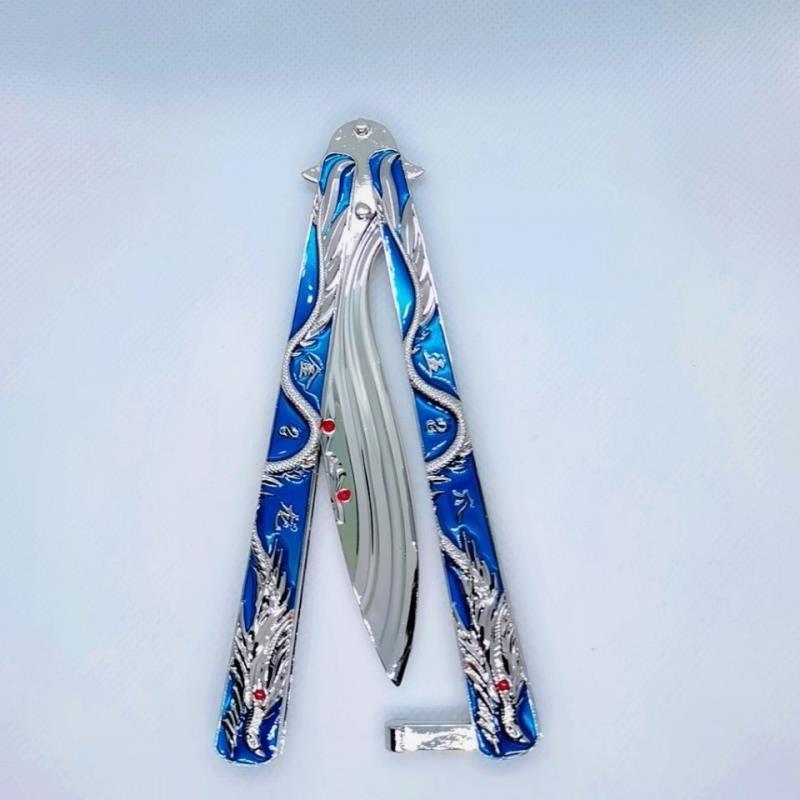 【居合刀具】玩具刺客五六七動漫蝴蝶刀甩刀合金兒童玩具動漫模型