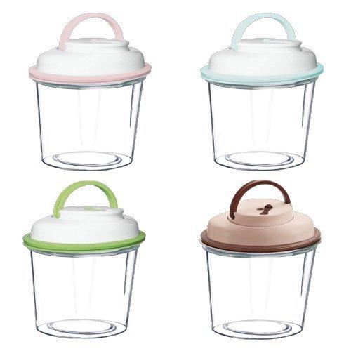 【ComboEZ】自動電動真空罐/保鮮/飼料桶(2公升/3.5公升/5公升-手柄款) 多種顏色可選