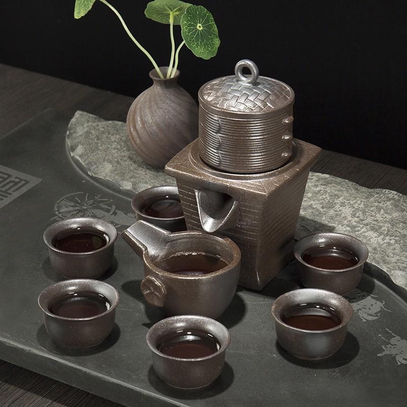 ronkin 中式復古茶具套裝半全自動懶人泡茶器整套陶瓷茶壺茶杯子