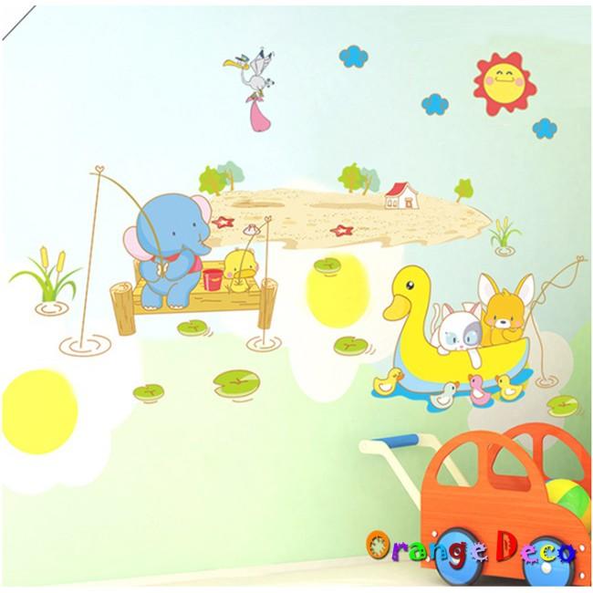 【橘果設計】划船 壁貼 牆貼 壁紙 DIY組合裝飾佈置