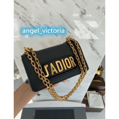 正品二手Dior(迪奧) jadior mini 黑金牛皮荔枝紋斜背包 近全新
