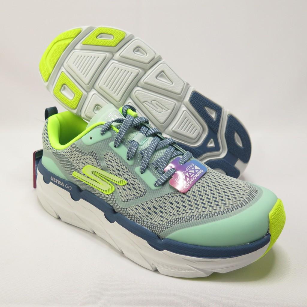 Skechers MAX CUSHIONING 慢跑鞋 17690MTYL 女款 黃綠【iSport愛運動】