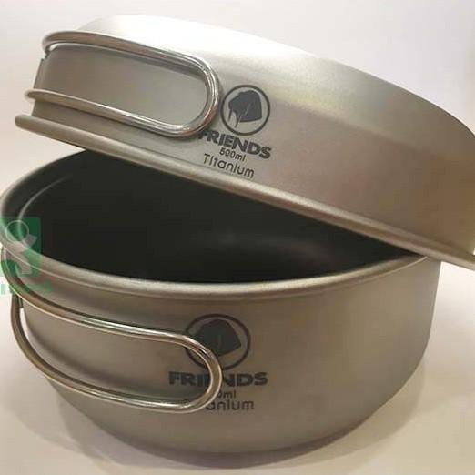 《台南悠活運動家》FRIENDS TGW-201 兩鍋一蓋鈦鍋