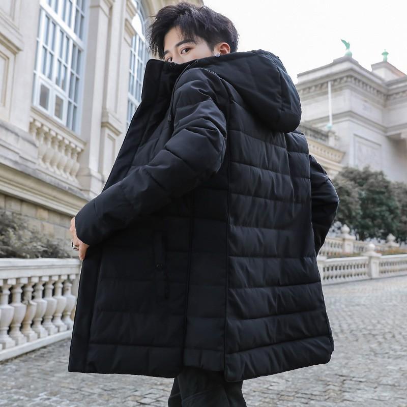 棉衣男2020冬季中長款韓版加厚御寒保暖連帽棉服休閑帥氣外套男潮高品質新上市