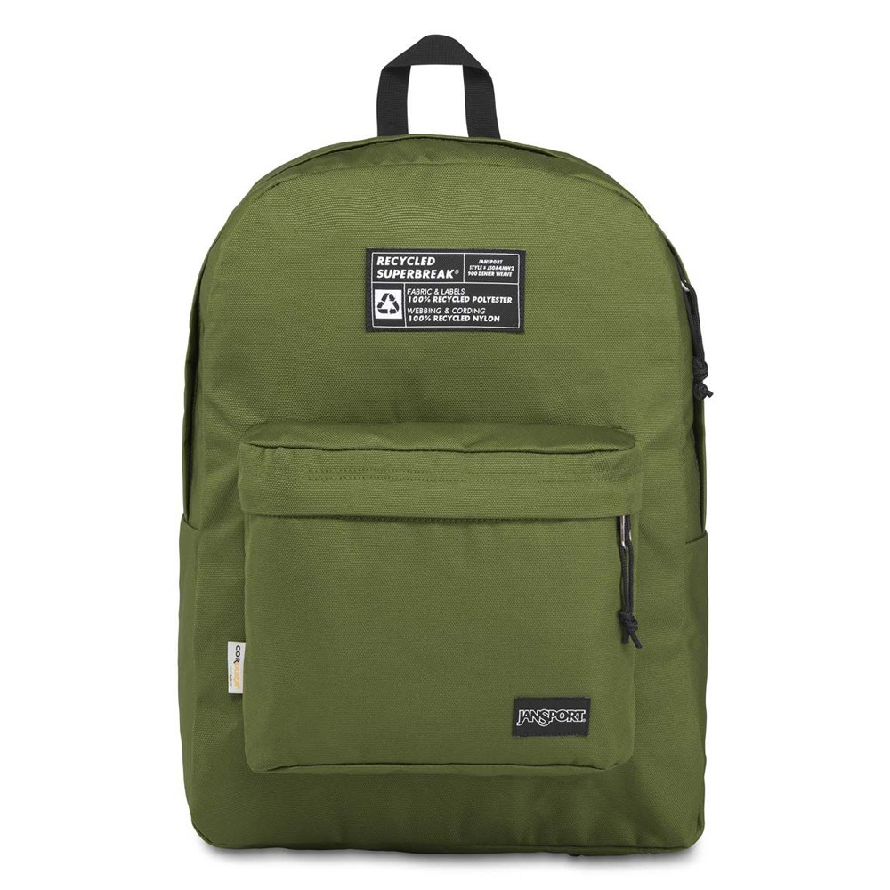 【JANSPORT】RECYCLED SUPERBREAK 系列後背包 -橄欖綠(JS-43801)