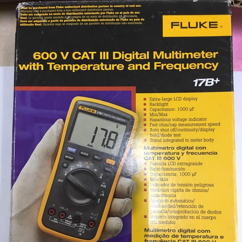FLUKE 17B+ 數位三用電錶