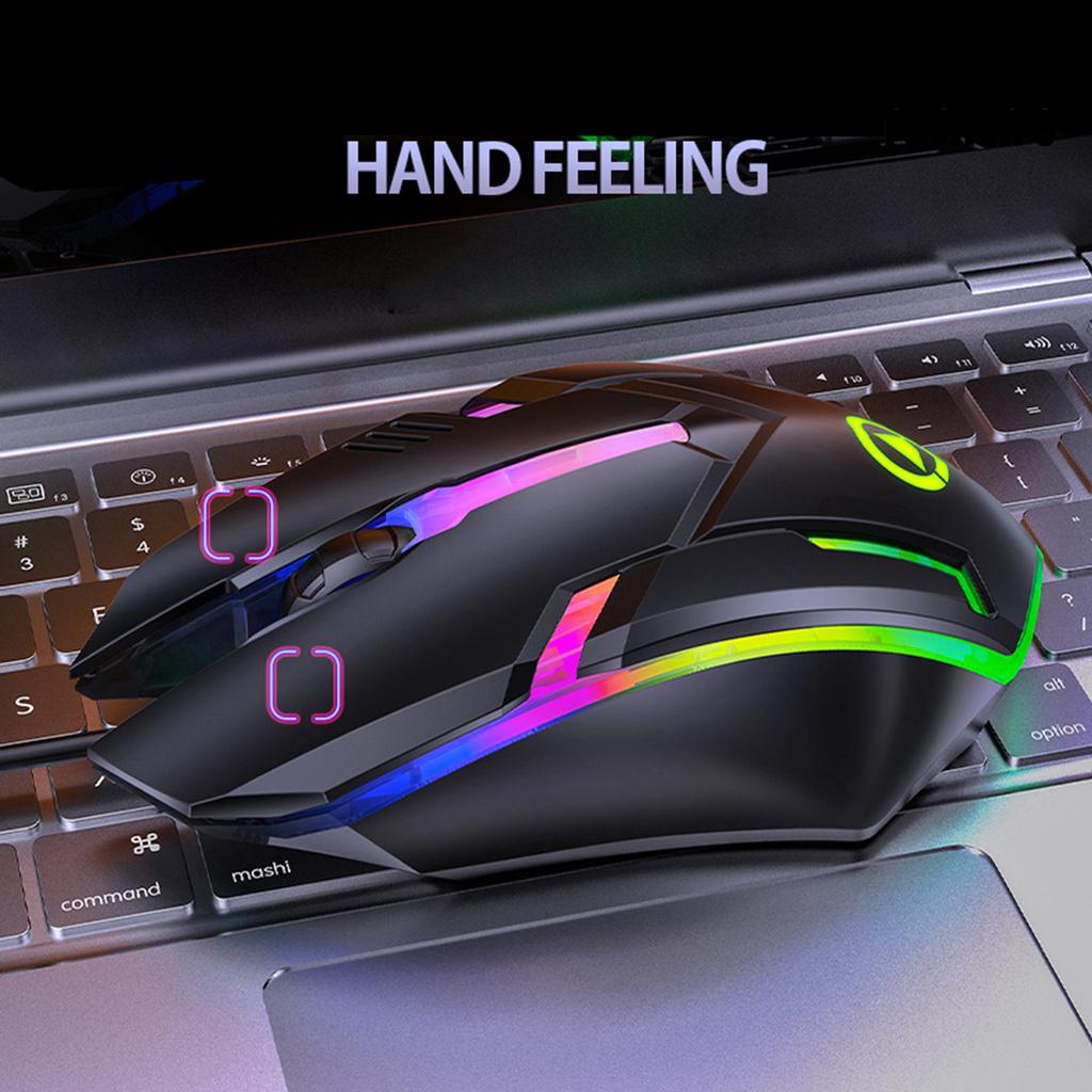 🍁fushengm1🍁 批發  G6有線USB發光滑鼠1200dpi七色呼吸燈遊戲外設電競機械電腦遊戲滑鼠