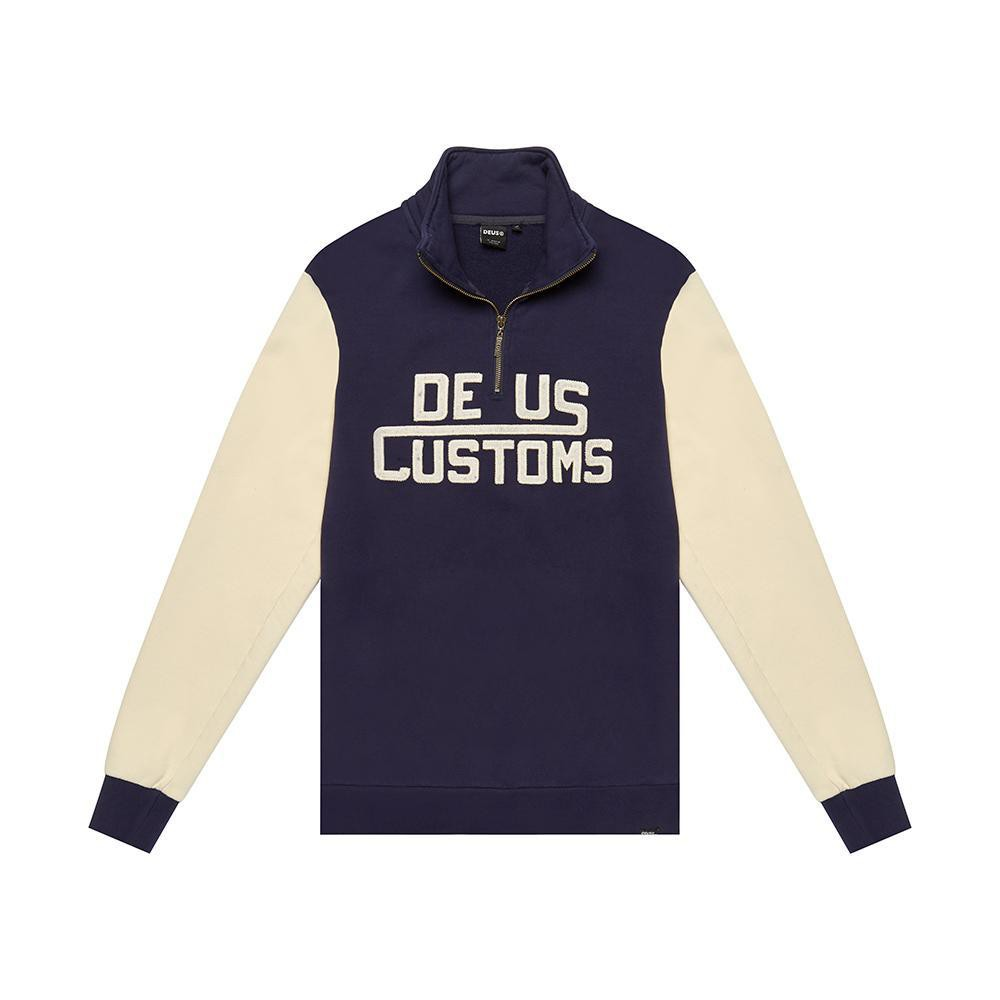 Deus Ex Machina Marston Zip Sweat 針織上衣-藍(男/女)