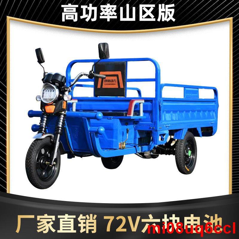 廠家現貨72V電動三輪車貨車成人代步載貨王拉貨快遞三輪車家用農用載重王
