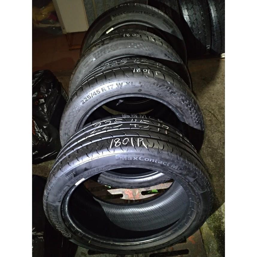 225 45 R 17 德國 馬牌 MC6 18年製造 9成新 落地胎 二手 中古 輪 胎 一輪2500元