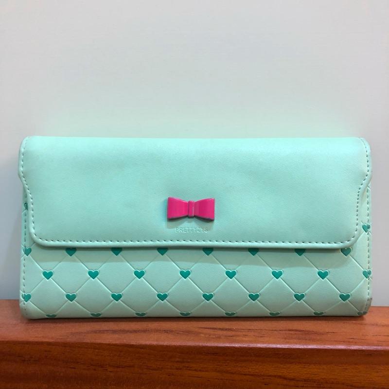 Tiffany綠愛心長夾