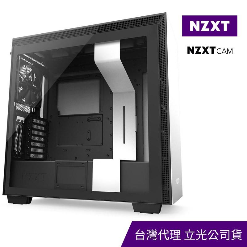 NZXT 美商恩傑 H710i  數位控制 全透側電腦機殼 (白/黑) CA-H710i-W1