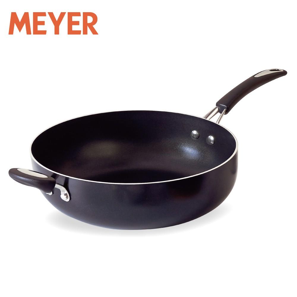 MEYER美亞 耐刮百萬次超能導磁不沾鍋30cm深炒鍋/高深煎鍋