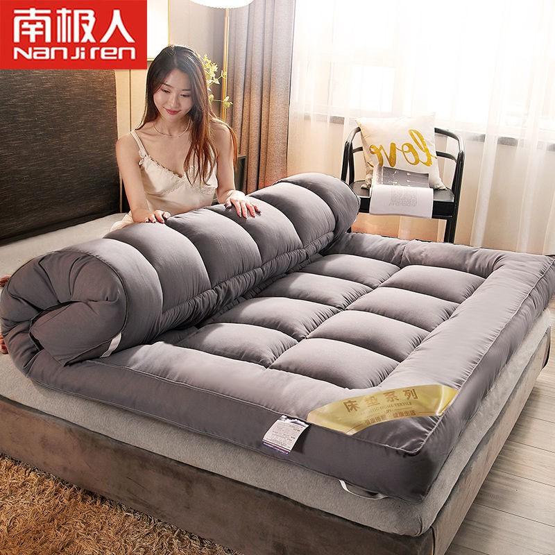 【現貨速發】加厚床墊10cm可折疊雙人榻榻米學生宿舍單人1.8米床被褥子羽絨床墊 軟床墊 羽絲絨日式床墊 學生床墊折疊