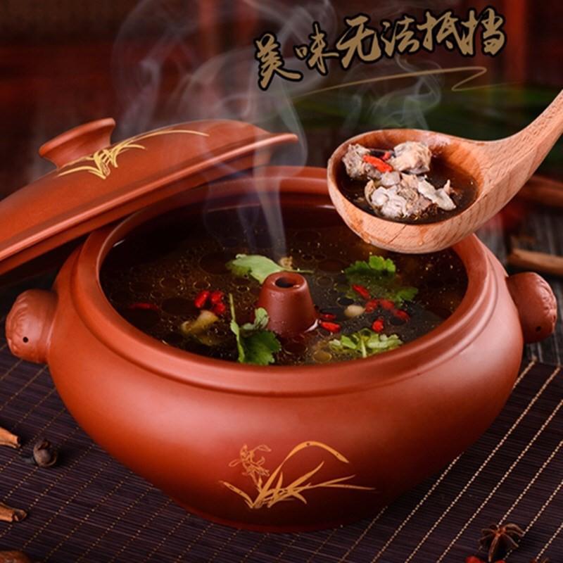 【Fastup_711】-汽鍋雞專用底鍋家用組合一套蒸汽耐高溫煮湯鍋平底家用氣鍋陶瓷