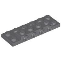 樂高 Lego 深灰色 側接 轉向 薄板 Dark Gray Plate Modified 2x6x2/3 87609