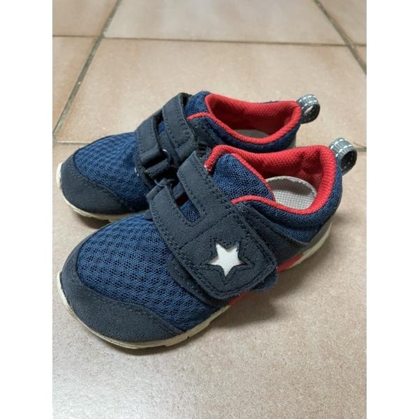 moonstar月星四大機能寶寶鞋深藍14.5