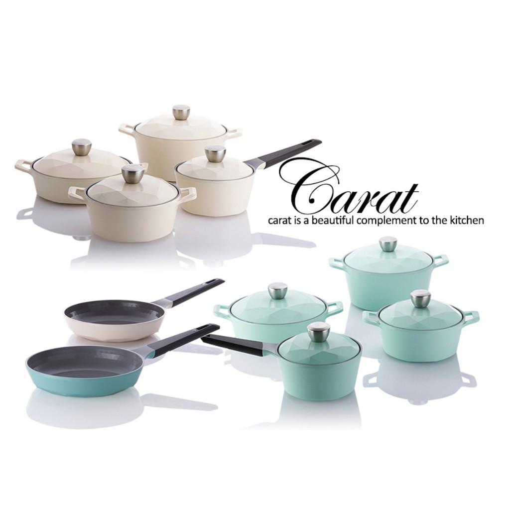 💯韓國直送 NEOFLAM CARAT鑽石系列陶瓷不沾鍋 平底鍋 湯鍋 鑽石鍋 cheftopf玫瑰鍋參考