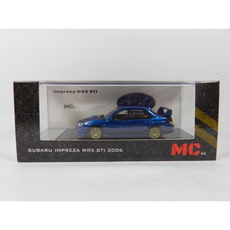 MC64 1/64 Subaru Impreza WRX STi 2006 寶藍色