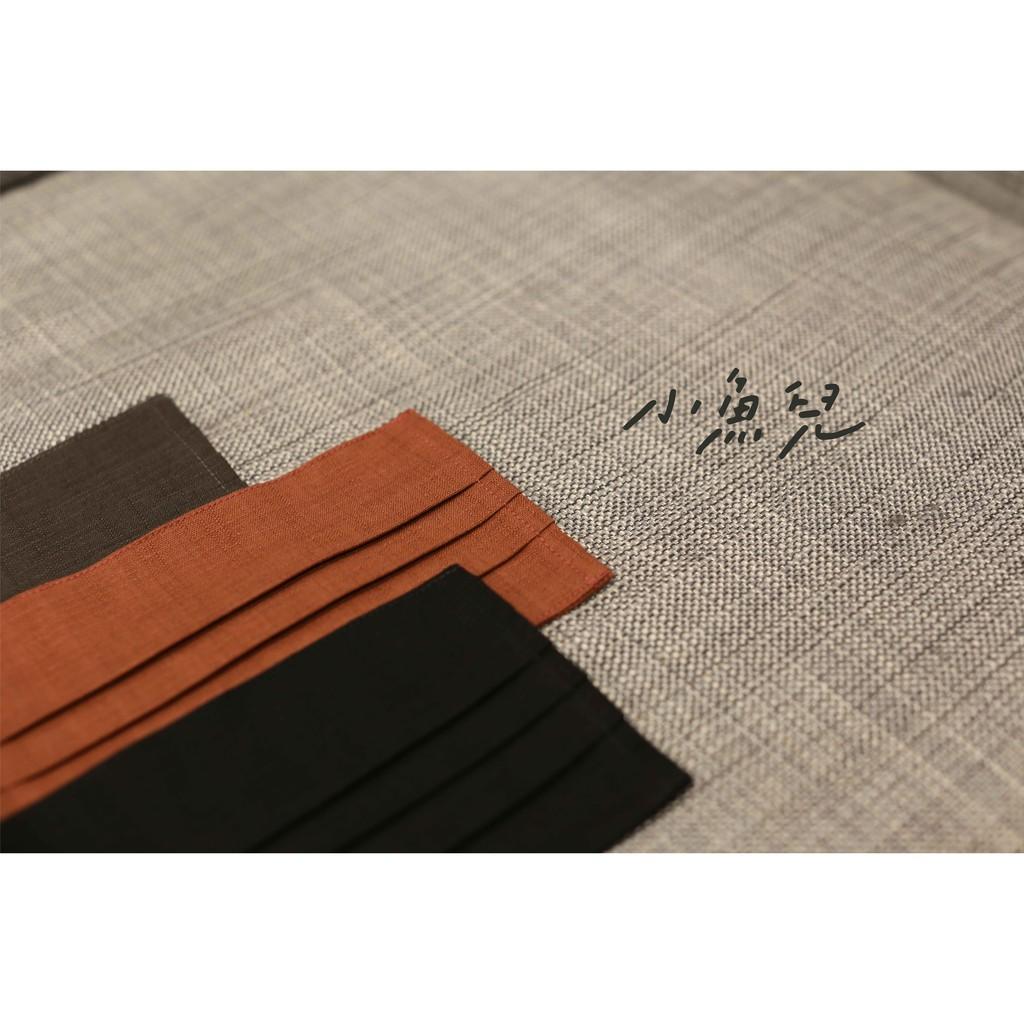 [現貨當天出貨]口罩套 適用於醫療口罩 成人口罩 日本古布 棉麻布 素色 黑色 灰色