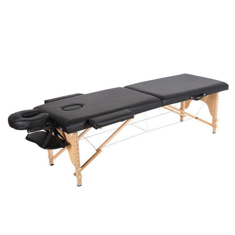 【快速出貨】 摺疊櫸木SPA按摩床 折疊按摩床 推拿便攜式家用手提針艾灸理療美容床紋身床
