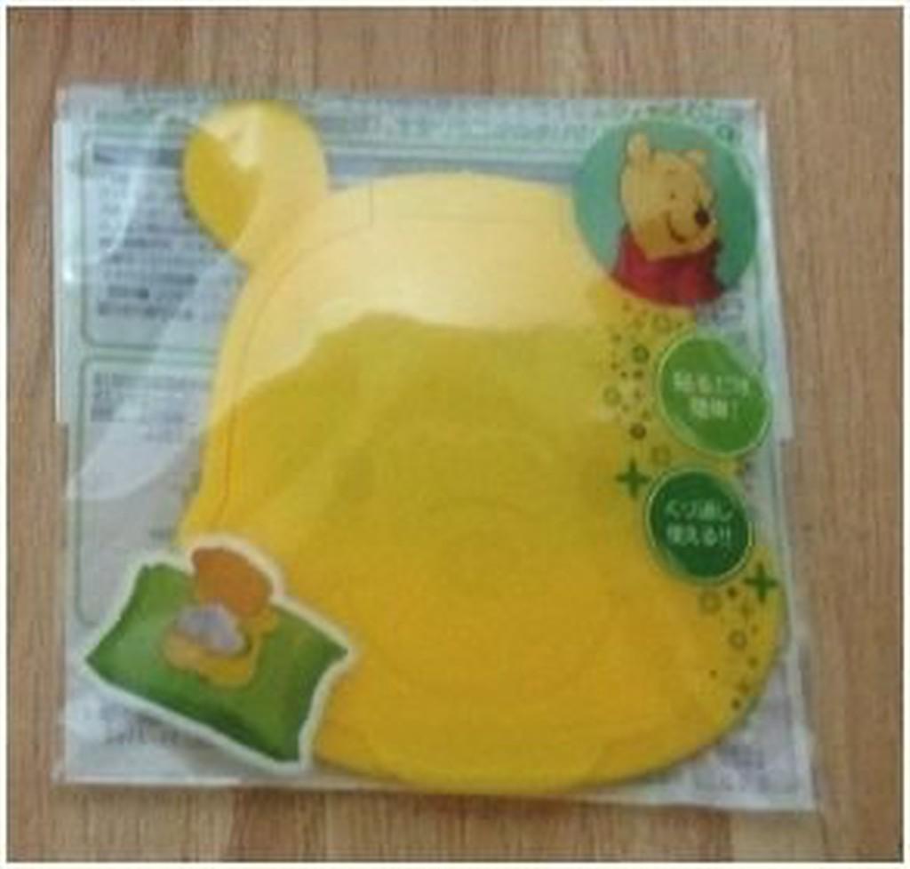 日本迪士尼 造型重覆黏濕紙巾專用盒蓋 -黃維尼