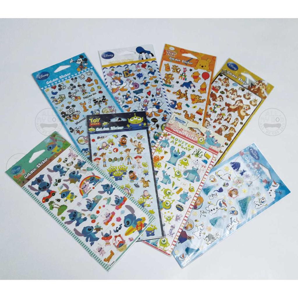 ALL.MY GOD 迪士尼正版授權 燙金系列 貼紙 裝飾貼紙 史迪奇 日誌 手札記 筆記本