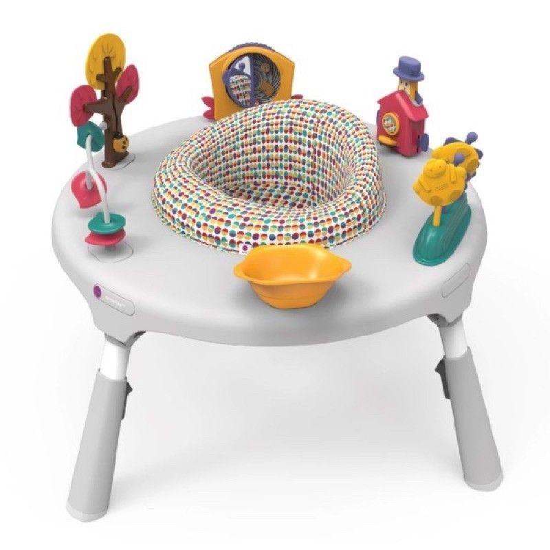 *小踢的家玩具出租*C6511  Oribel- PortaPlay-成長型多功能遊戲桌-灰白色仙境歷險~即可租