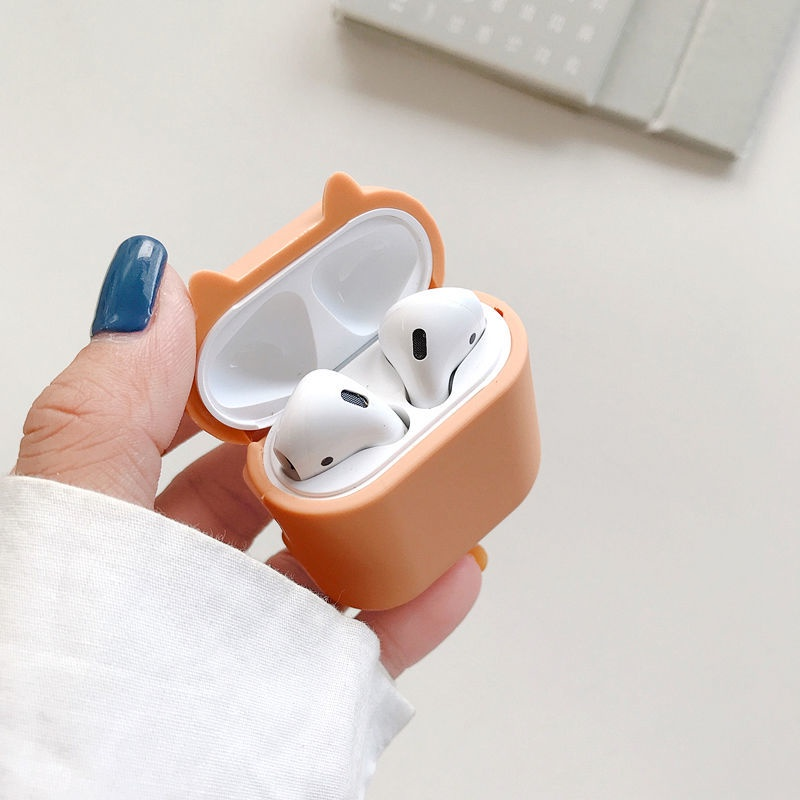 airpods airpods 2 airpods 殼創意柴犬airpods耳機套蘋果1/2代無線藍牙保護殼pro軟硅膠