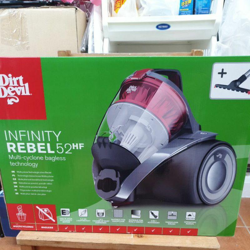 全新~美國進口Dirt Devil Rebel52 第15代 Dual雙層過濾系統超強V型多孔離心力永不衰退吸塵器