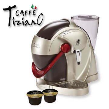 二手出清最後一台Caffe Tiziano義式膠囊咖啡機 TSK-1136A(香檳金)