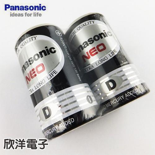 Panasonic國際牌 1號環保碳鋅電池 1.5V (2入) D