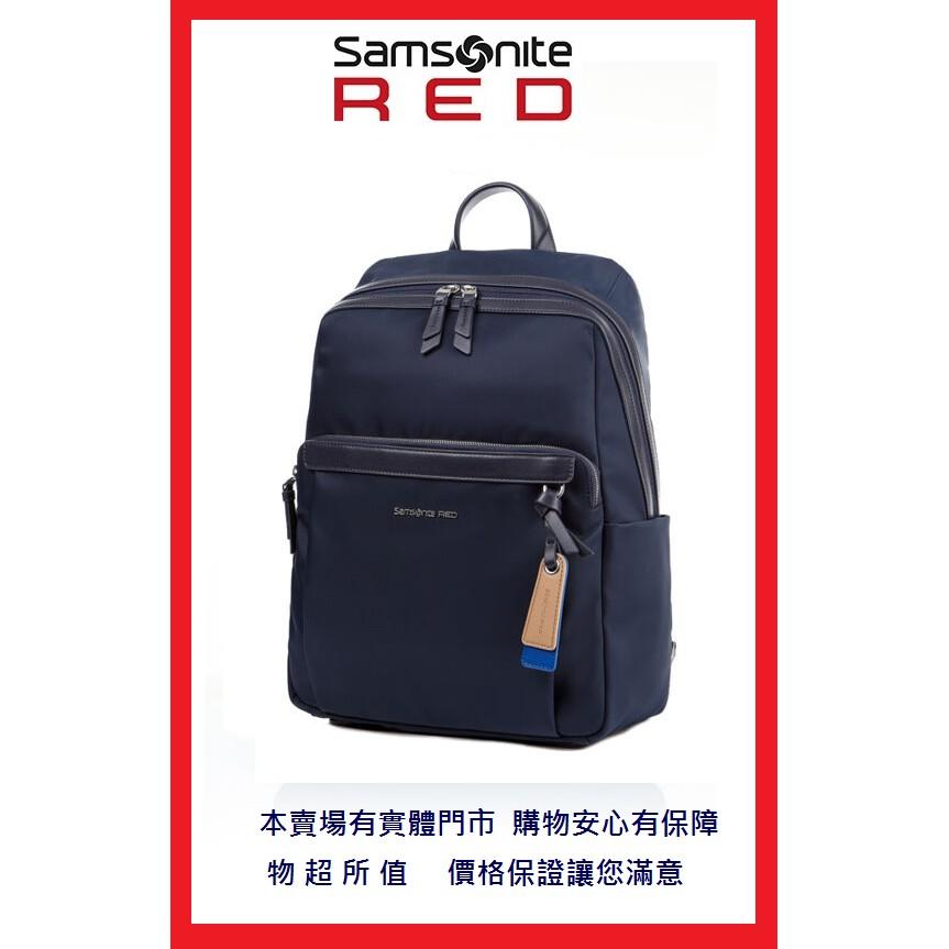 獨家送登機箱Samsonite RED新秀麗BELLECA GF7 商務14吋筆電後背包 輕量尼龍減壓背帶 暗袋 OL包
