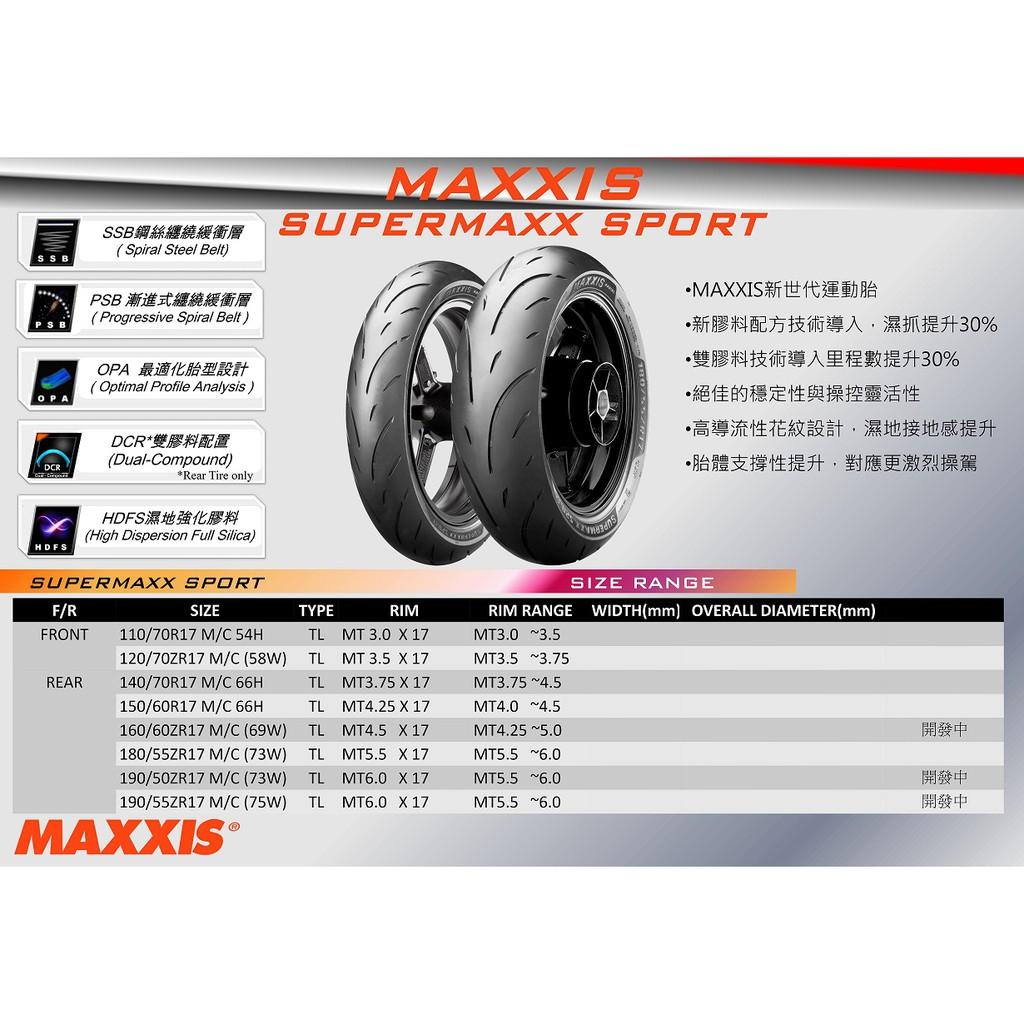瑪吉斯 MAXXIS MA-SP 運動版 複合技術 全熱融 鋼絲胎