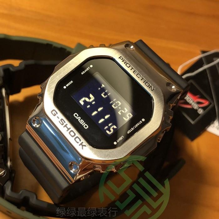 CASIO卡西歐G-SHOCK金屬GM-5600-1 5600B-1 5600B-3 S5600PG手錶
