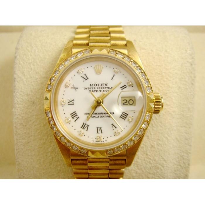 [上海當舖流當品]-Rolex/勞力士 69178 蠔式日誌型 原鑲鑽圈 十鑽時標 白色羅馬面盤 女錶~品項佳 一手錶