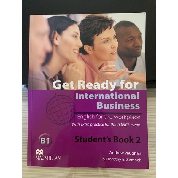 【二手】Get Ready for international business 英文課本 二手書 有筆記 無CD
