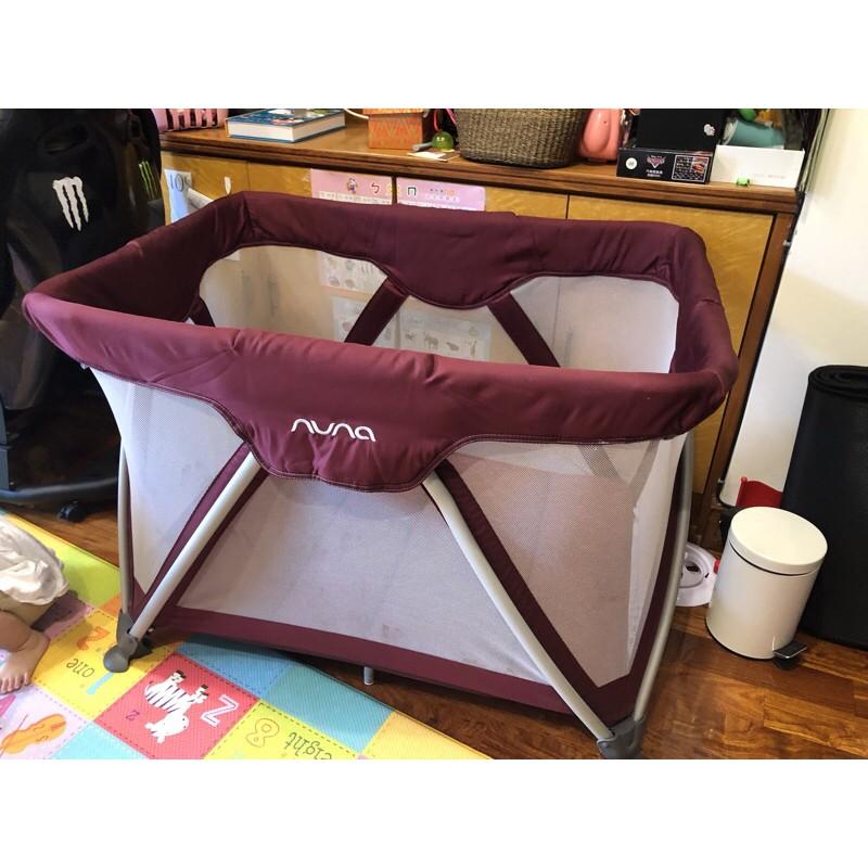 nuna二手遊戲床嬰兒床方便收納多功能床遊戲床