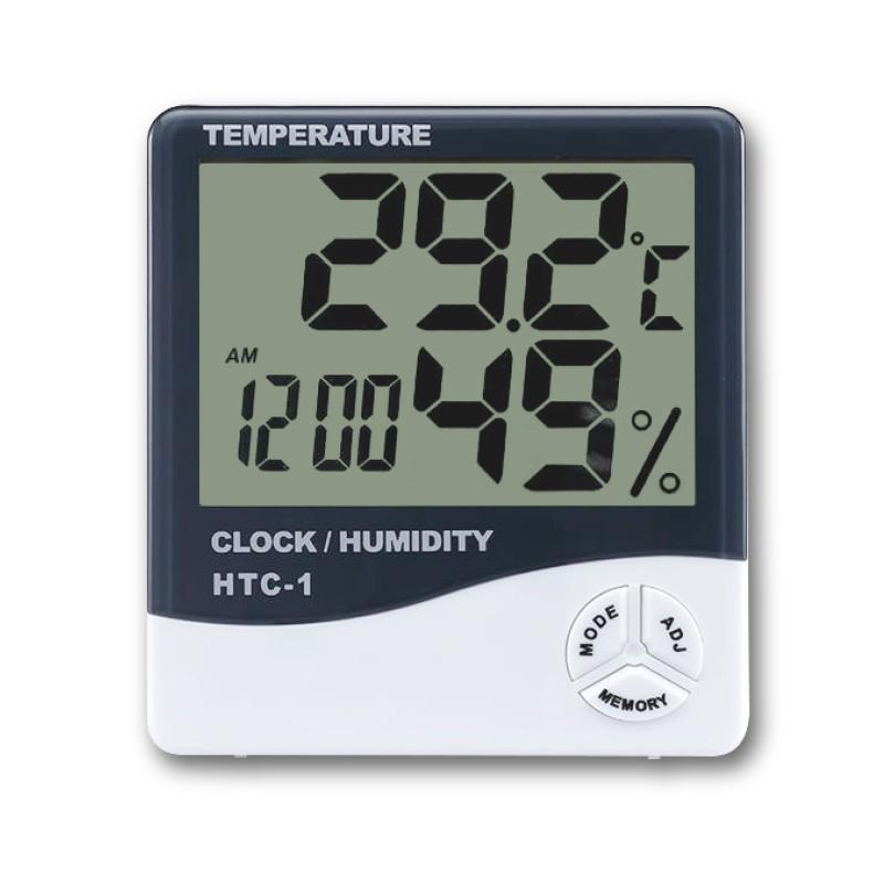 多功能濕溫度計 大數字時鐘 數位鬧鐘 溼溫度計 溫度計 濕度計 溼度計