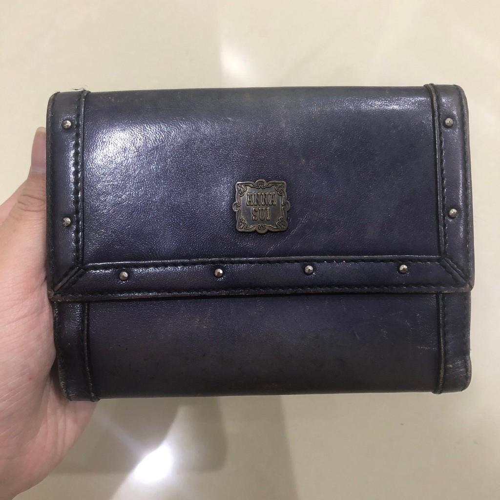 日本 ANNA SUI 皮夾 中夾 紫色 皮包 專櫃