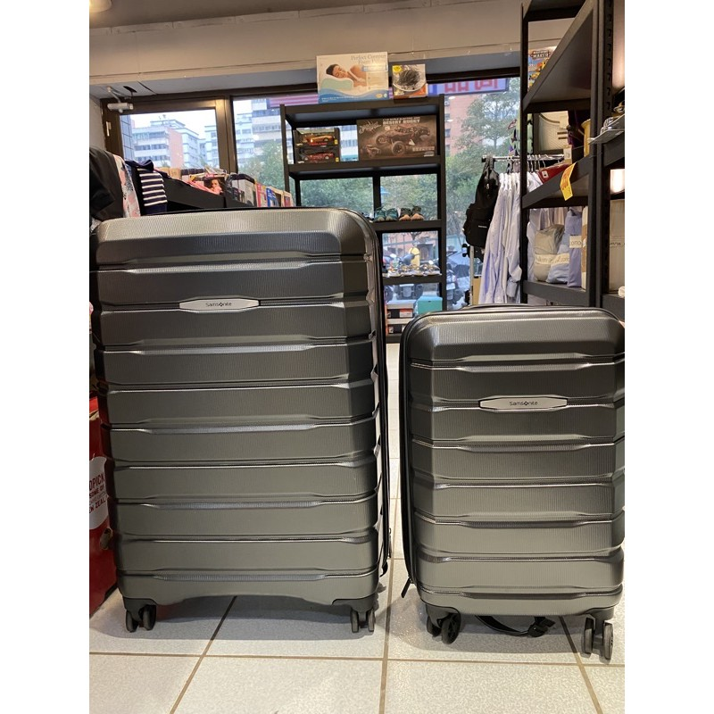 好市多 Samsonite 行李箱買大送小 鐵灰色/深藍色