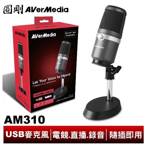 圓剛 AM310 黑鳩 高音質USB麥克風 電競直播、錄音、Podcast、Clubhouse專用【圓剛】
