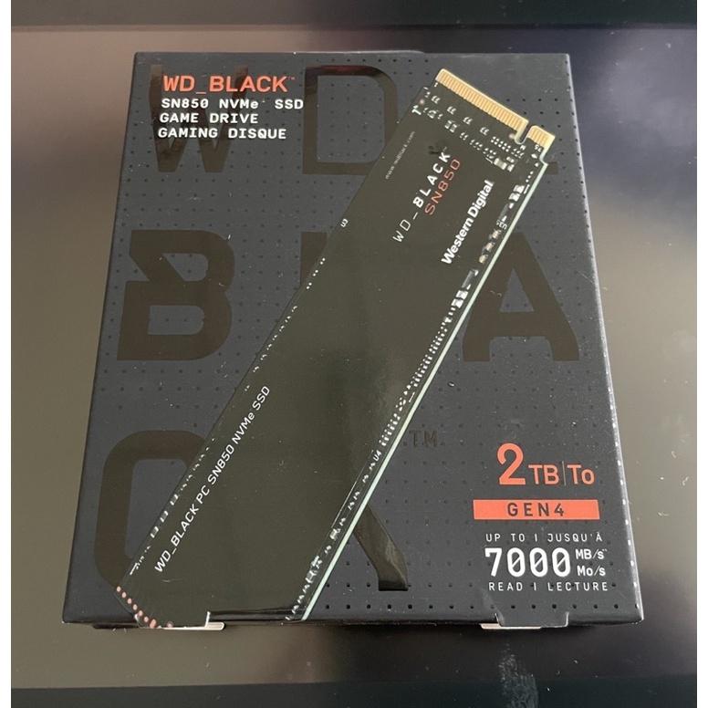 【全新未拆】WD黑標 SN850 2TB 無散熱片 固態硬碟 M.2