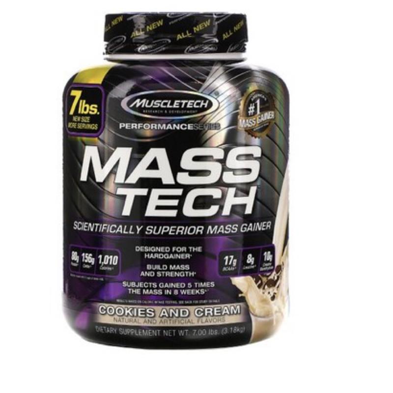 現貨Muscletech Masstech 中高熱量乳清 7磅 高蛋白 肌肉科技 100% 2.86公斤