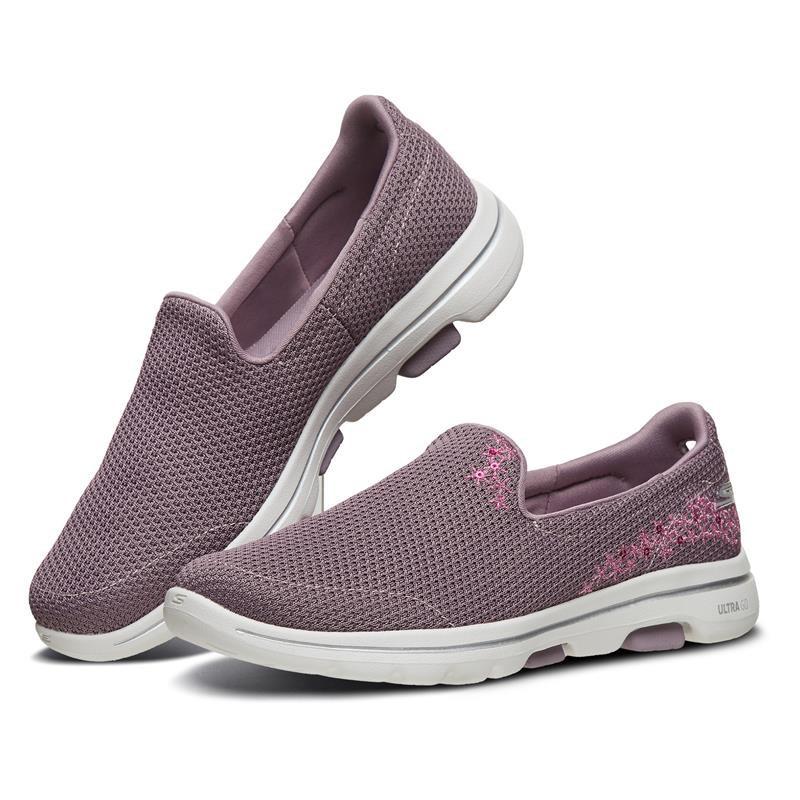 帝安諾-實體店面 SKECHERS GOWALK 5 懶人鞋 健走鞋 女鞋 芋頭紫 粉紫花卉 15945MVE