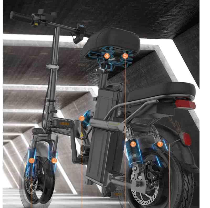 現貨 免運⭐美國 英格威 折疊 電動自行車 代駕 電瓶車 鋰電池 代步 小型助力車 電動車