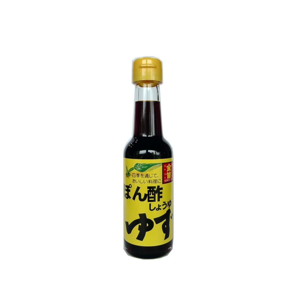 日本金笛醬油 柚子醋醬油150ml 無添加醬油【金舌頭食集】