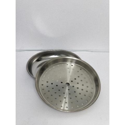 家居盤子必備簡約304不銹鋼內鍋層 (有孔) 蒸盤  圓盤304不銹鋼 水盤  菜盤 茶盤 滴水盤 盤子 不銹鋼盤